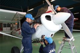航空整備ステージの写真