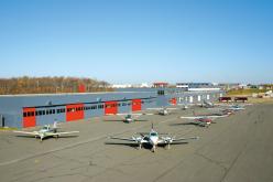 オープンキャンパスの写真 飛行場