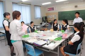 日本航空高等学校 航空ビジネス科メイクレッスン